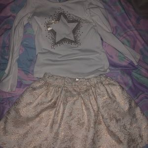 Top & skirt size 5T